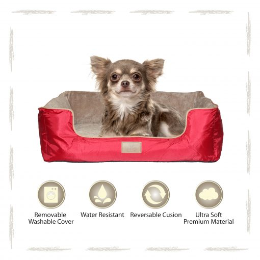 Yappy Dakota Small Dog Bed   Red - Dog Nappers Dog Beds