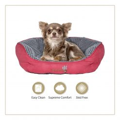 Woofers Lagan Small Dog Bed   Red & Grey - Dog Nappers Dog Beds
