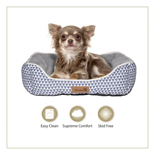Woofers Nore Small Dog Bed   Blue & White - Dog Nappers Dog Beds