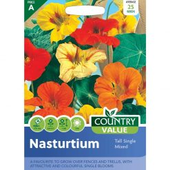 Nasturtium Tall Single Mixed| Flower Seeds| Nationwide Delivery