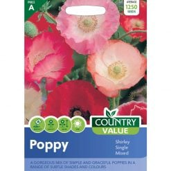 Poppy Shirley Single Mixed| Flower Seeds| Nationwide Delivery