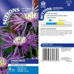 Amberboa Seeds - Desert Star by Suttons Seeds  101233  Nationwide Delivery On Flower Seeds