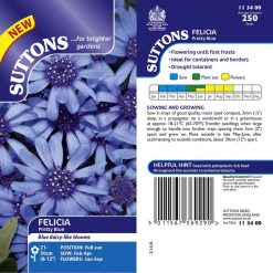 Felicia Seeds - Pretty Blue by Suttons Seeds| 113400| Nationwide Delivery On Flower Seeds