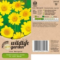 Wildlife Garden Seeds - Corn Marigold by Suttons Seeds  140147  Nationwide Delivery On Flower Seeds
