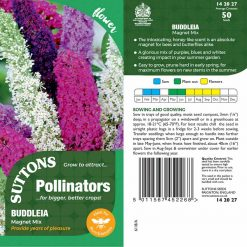 Buddleia Flower Seeds - Butterfly Magnet Mix by Suttons Seeds| 142027| Nationwide Delivery On Flower Seeds