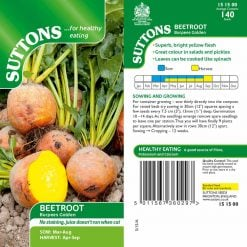 Beetroot Burpees Golden by Suttons Seeds  151500  Nationwide Delivery