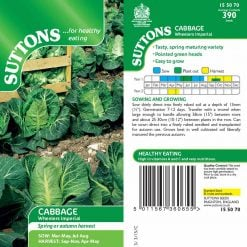 Cabbage Wheelers Imperial by Suttons Seeds| 155070| Nationwide Delivery