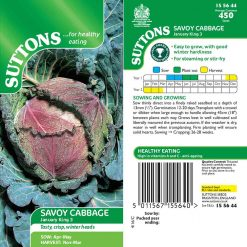 Savoy Cabbage January King 3 by Suttons Seeds| 155644| Nationwide Delivery
