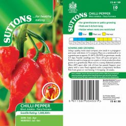 Chilli Pepper Bhut Jolokia Fiery Furnace by Suttons Seeds  156150  Nationwide Delivery
