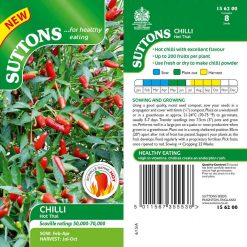 Chilli Pepper Hot Thai by Suttons Seeds  156200  Nationwide Delivery