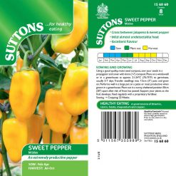 Sweet Pepper Midas by Suttons Seeds  156860  Nationwide Delivery
