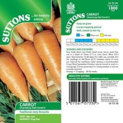 Carrot Chantenay Red Cored 2 by Suttons Seeds| 157335| Nationwide Delivery