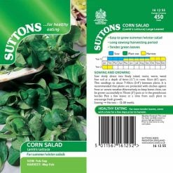 Corn Salad (Lamb's Lettuce) Large Leaved by Suttons Seeds| 161255| Nationwide Delivery