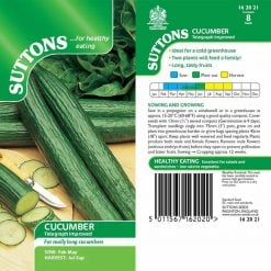 Cucumber Telegraph Improved by Suttons Seeds  162021  Nationwide Delivery