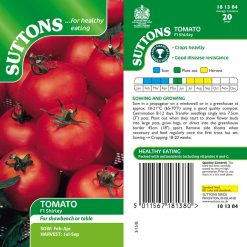 Tomato F1 Shirley by Suttons Seeds  181384  Nationwide Delivery