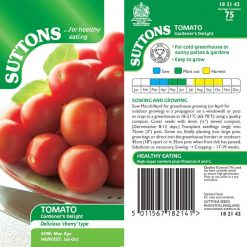 Tomato Gardener's Delight by Suttons Seeds  182142  Nationwide Delivery