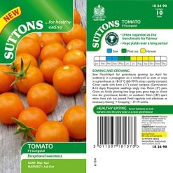 Tomato  Sungold F1 by Suttons Seeds  182490  Nationwide Delivery
