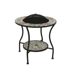 Braga Mosaic Outdoor Firepit-842730 | McD's Garden Centre | Nationwide Delivery